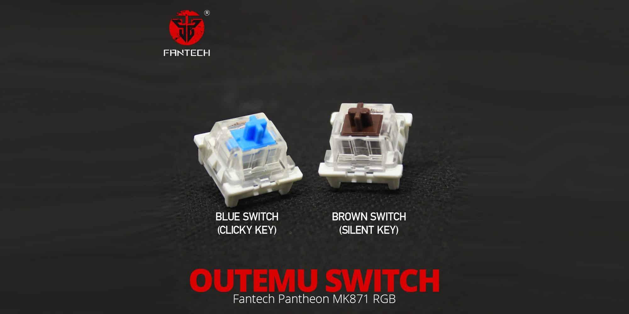 Переключатели Outemu для Fantech Pantheon MK871 RGB