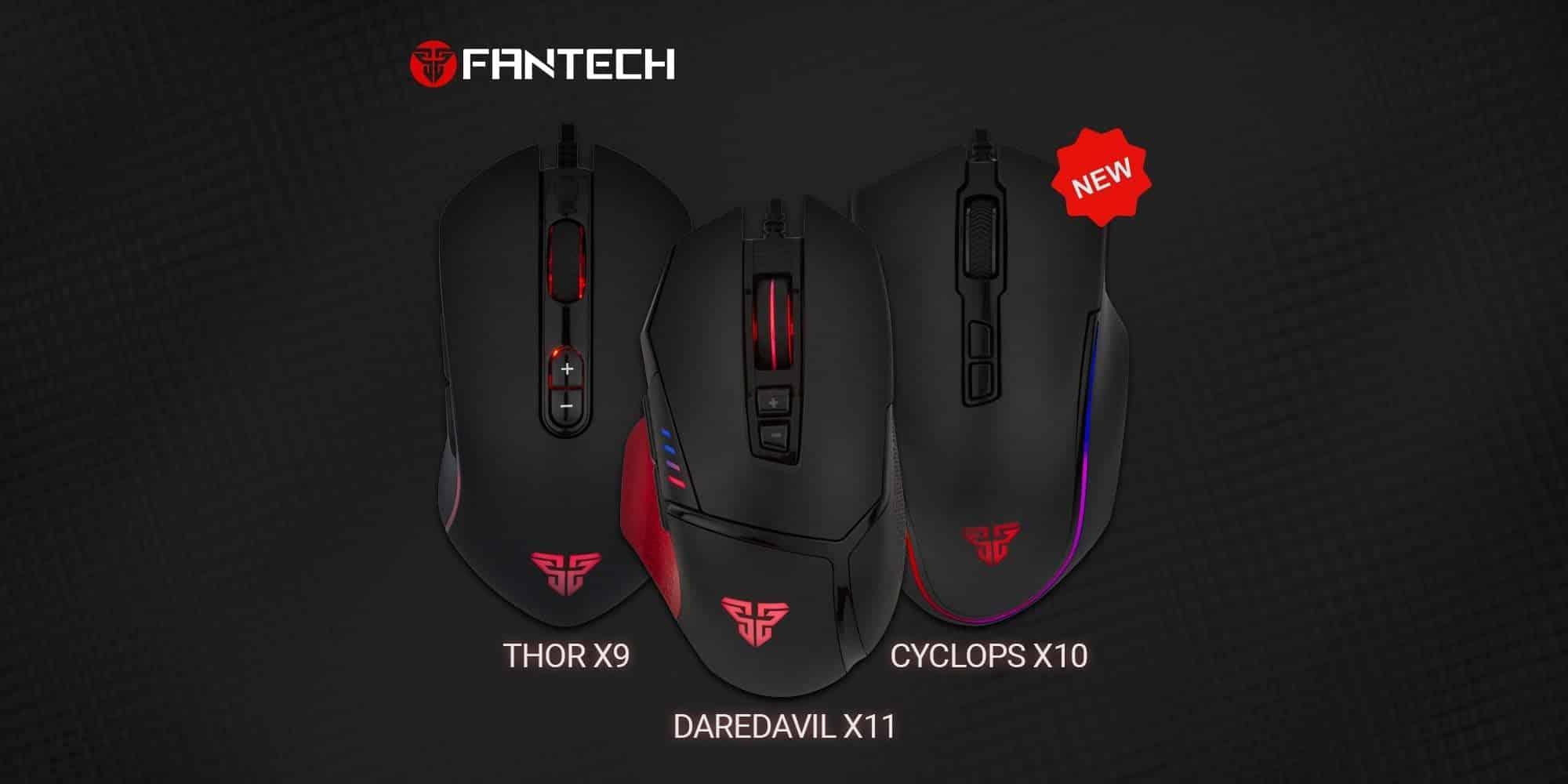 Fantech Thor X9, Fantech Cyclops X10, Fantech Daredavil X11 - новинки февраля