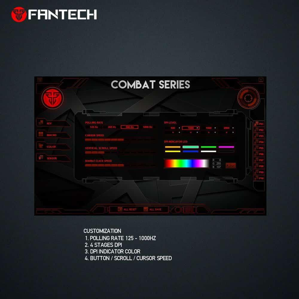 Игровая мышь Fantech Combat X8 Black