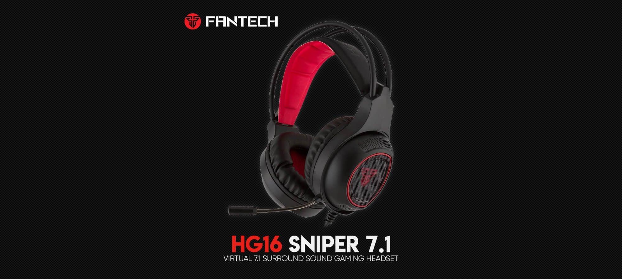 Игровая гарнитура Fantech Sniper 7.1 HG16