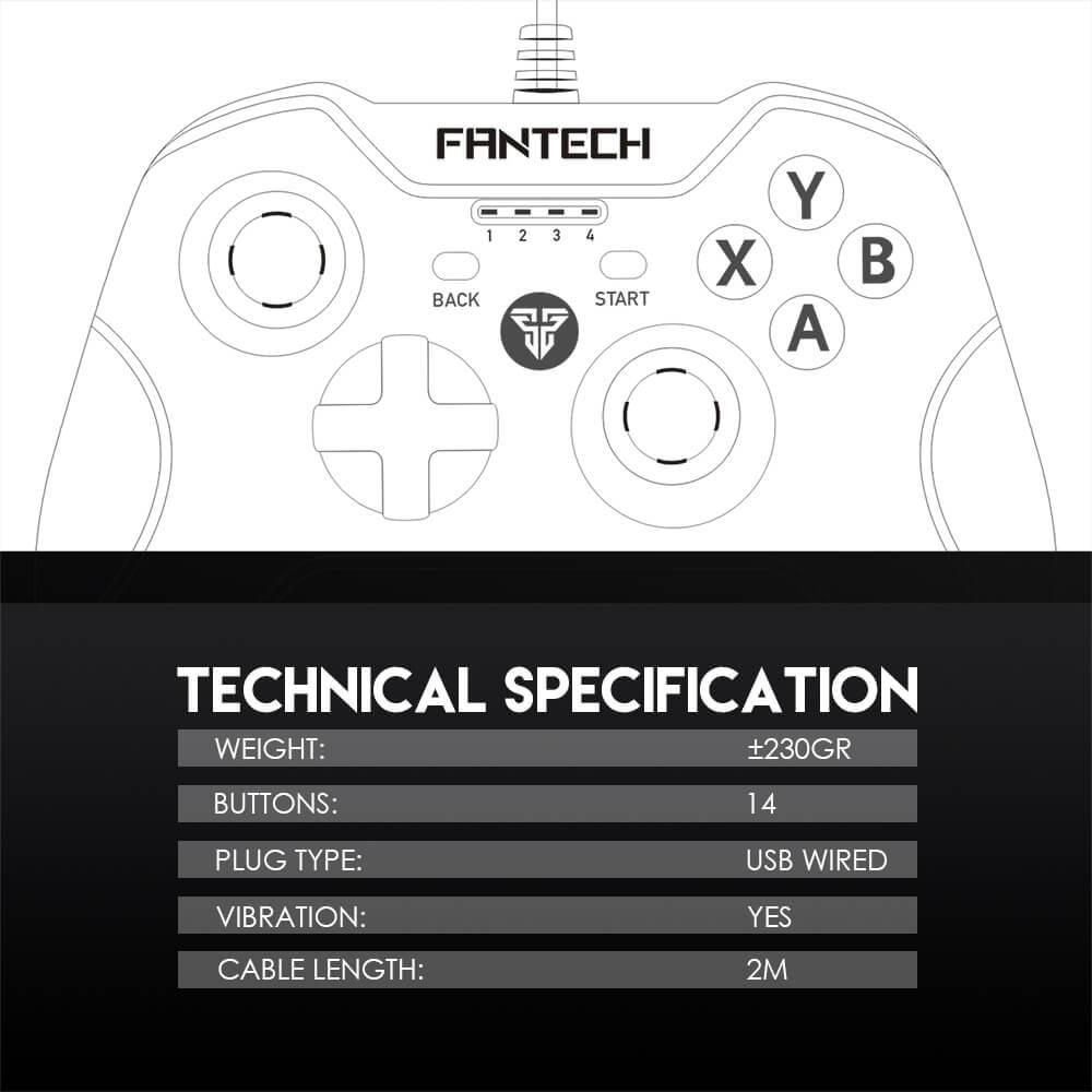 Проводной геймпад Fantech Shooter GP11